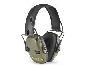 Howard Leight Impact Sport Electronic Earmuff Ear Muffs SNR 25DB Class 4 Olive Green #1013530 - Australian Tactical Precision