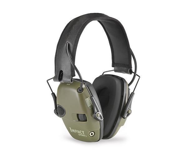 Howard Leight Impact Sport Electronic Earmuff Ear Muffs SNR 25DB Class 4 Olive Green #1013530 - Australian Tactical Precision