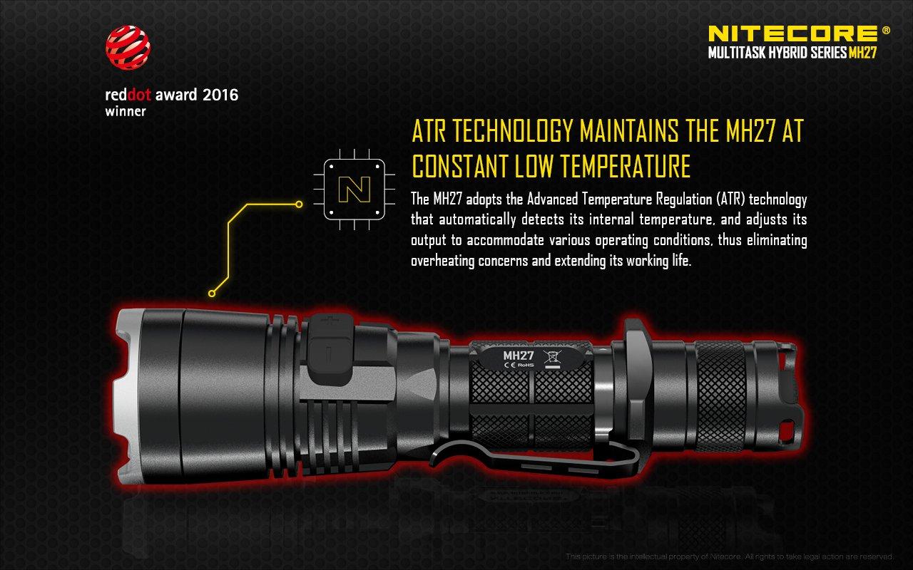 Nitecore MH27 Hunting Torch Flashlight Kit, Rechargeable, 1000 Lumens, 462m Range - Australian Tactical Precision