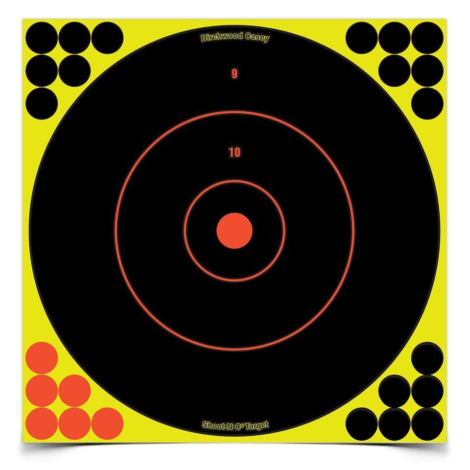 "Birchwood Casey Shoot-N-C 12"" inch Bull's-Eye Target - Pack of 12 #34022 - Australian Tactical Precision"