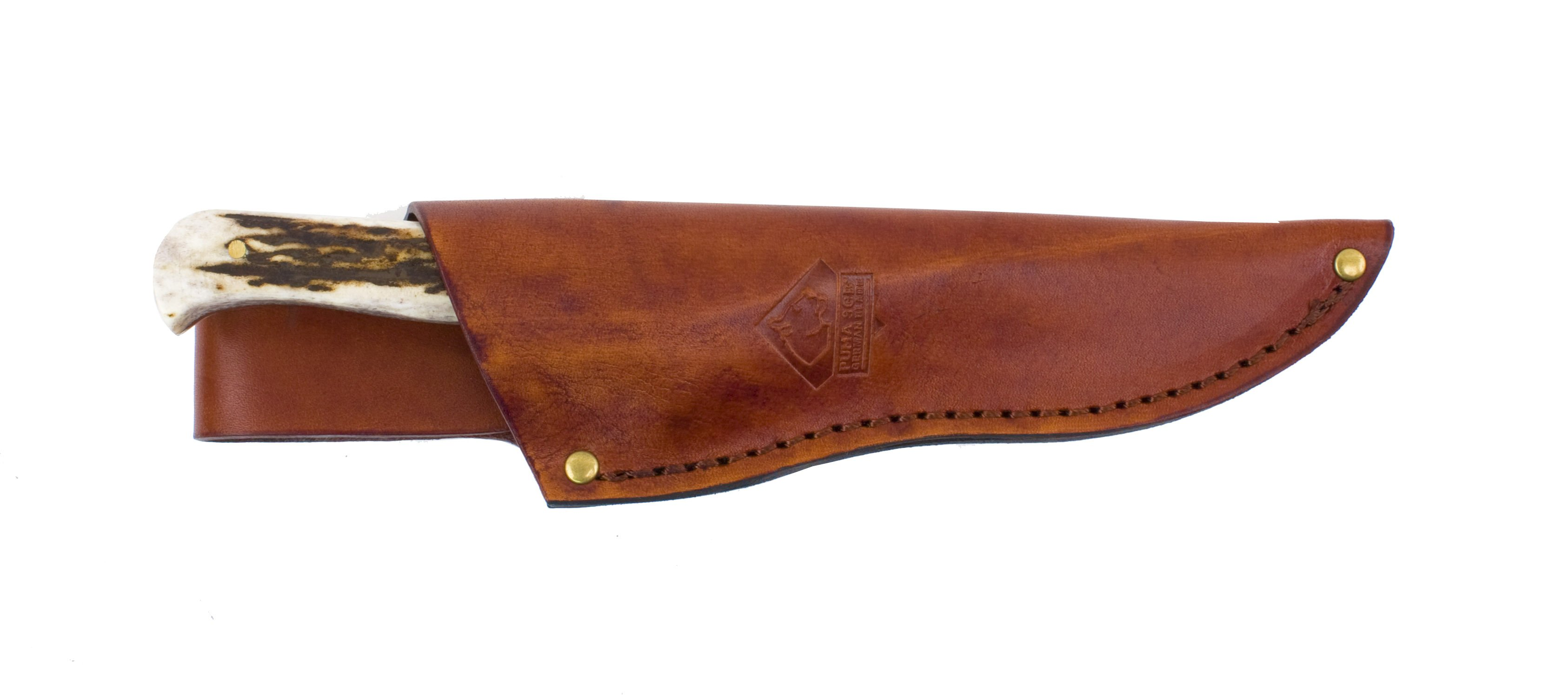 Puma SGB Skinner Knife Stag Handle with Leather Sheath 6116393L - Australian Tactical Precision