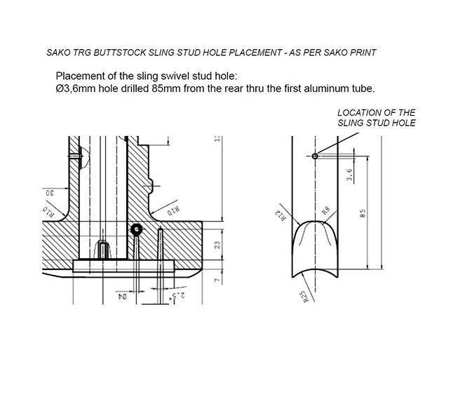 Accu-shot Sako TRG Monopod Rail Kit BT29 - Australian Tactical Precision