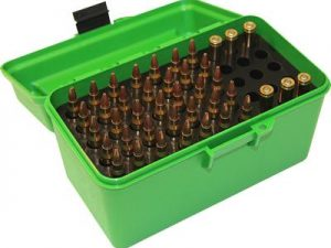 MTM Deluxe 50 Round Mechanically Hinged Ammo Box with Handle - Rifle Calibers H50 - Australian Tactical Precision