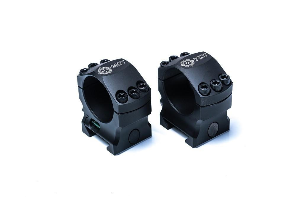 MDT Elite Tactical Picatinny Scope Rings with Integral Anti Cant Bubble Level - Australian Tactical Precision