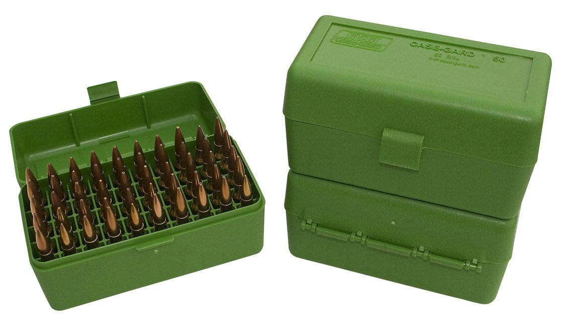 MTM 50 Round Mechanically Hinged Ammo Box - Rifle Calibers R50 - Australian Tactical Precision