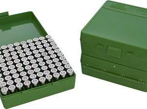 MTM 100 Round Mechanically Hinged Ammo Box - Pistol/Handgun Calibers P100 - Australian Tactical Precision