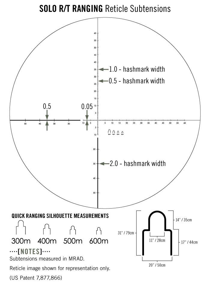 Vortex Solo R/T Ranging Monocular with Reticle Focus 8x36 - Australian Tactical Precision