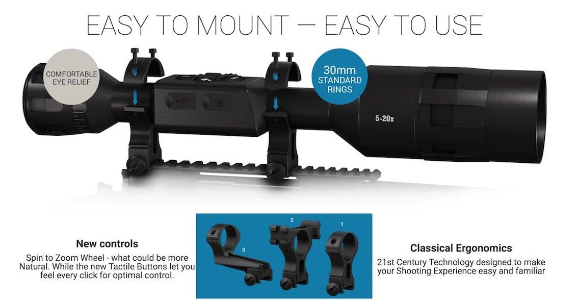 ATN X-Sight 4K PRO Smart Ultra HD 5-20x Day & Night Vision Rifle Scope - Australian Tactical Precision