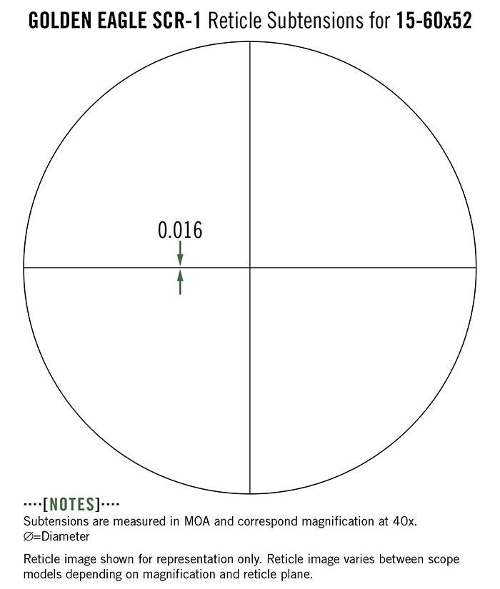 Vortex Golden Eagle HD 15-60x52 Rifle Scope SCR-1 MOA Reticle TCS-1501 - Australian Tactical Precision