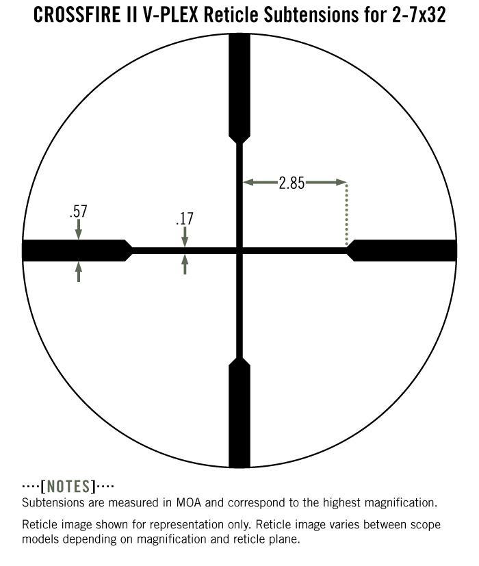 Vortex Crossfire II 2-7x32 Rifle Scope V-Plex Reticle (Rimfire) CF2-31001R - Australian Tactical Precision