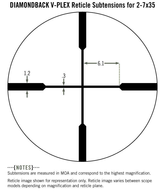 Vortex Diamondback 2-7x35 Rifle Scope V-Plex Reticle (Rimfire) DBK-RIM - Australian Tactical Precision
