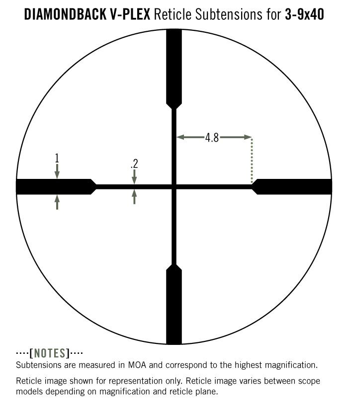 Vortex Diamondback 3-9x40 Rifle Scope V-Plex Reticle DBK-M-01P - Australian Tactical Precision