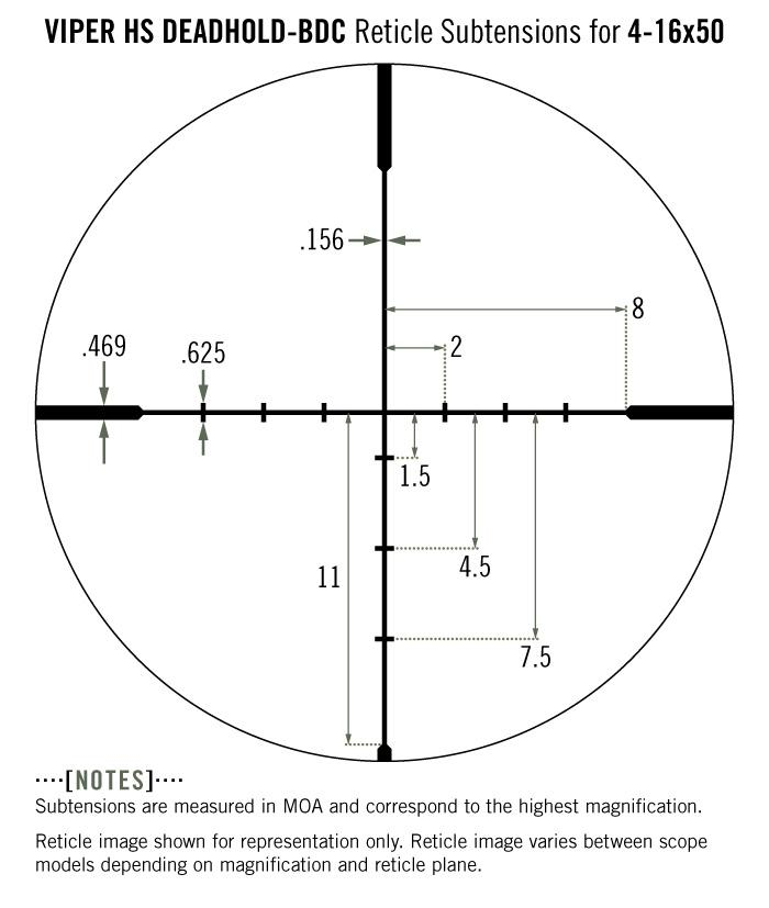 Vortex Viper HS 4-16x50 Rifle Scope Dead Hold BDC Reticle VHS-4307 - Australian Tactical Precision