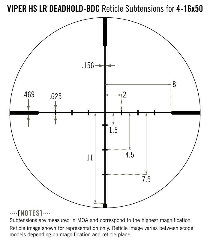 Vortex Viper HS LR 4-16x50 Rifle Scope Long Range Dead Hold BDC Reticle VHS-4307-LR - Australian Tactical Precision