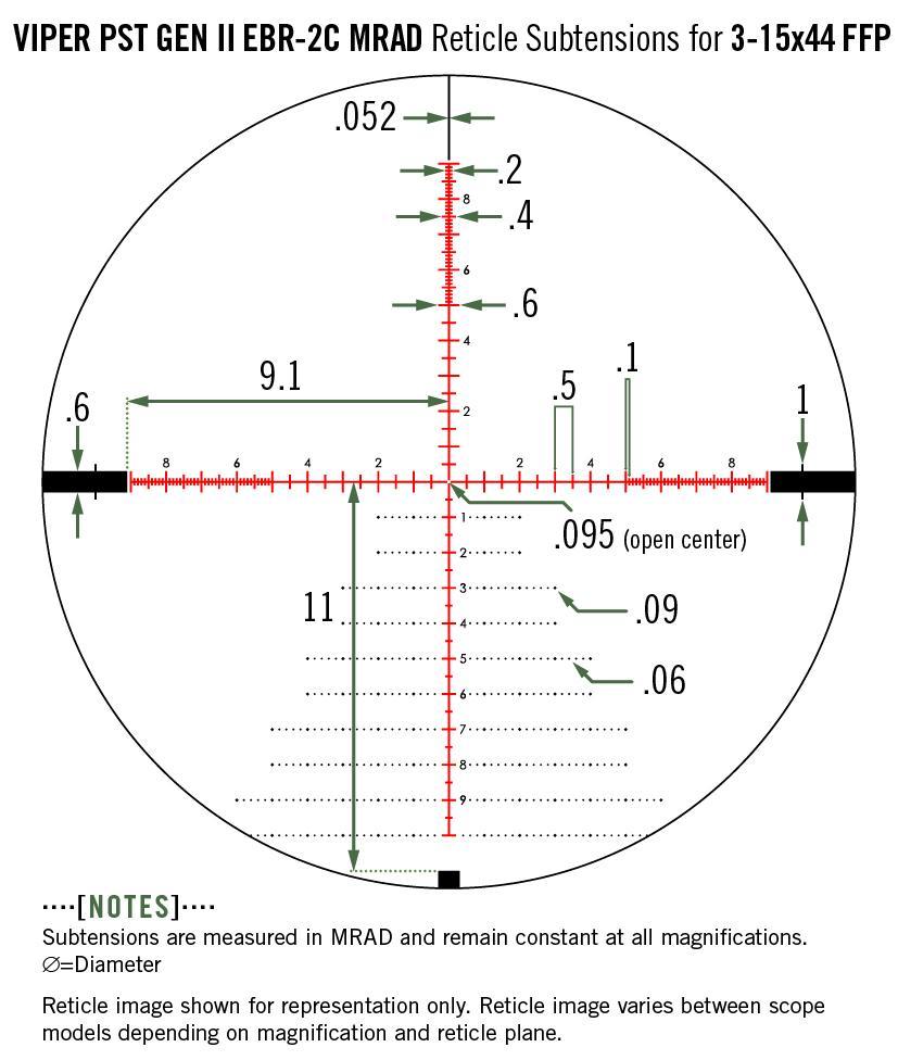 Vortex Viper PST Gen II 3-15x44 FFP Rifle Scope EBR-2C MRAD Reticle PST-3158 - Australian Tactical Precision