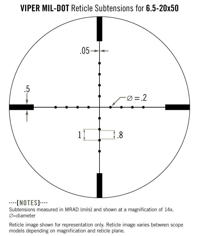 Vortex Viper 6.5-20x50 PA Rifle Scope Mil-Dot Reticle VPR-M-06MD - Australian Tactical Precision